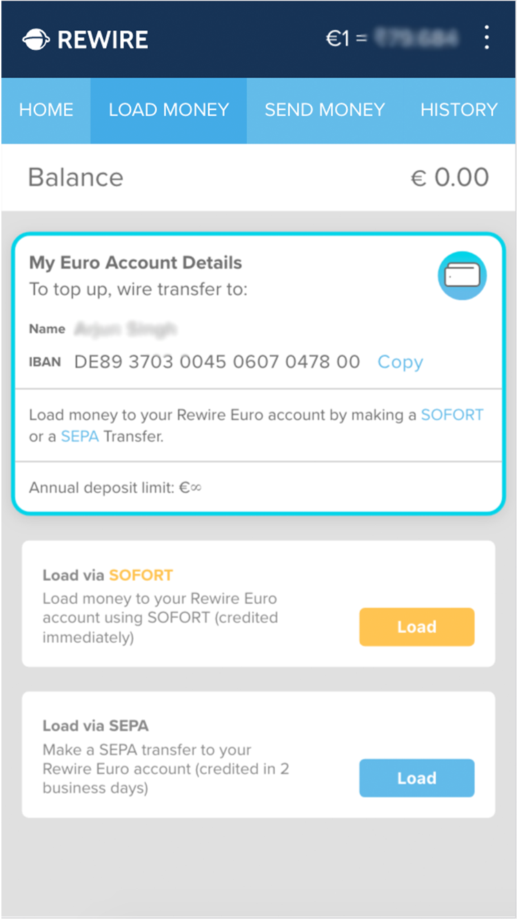 Choose Mode Of Transfer To Rewire Account
